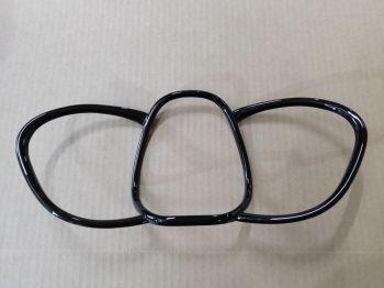 Накладка на кольца щитка приборов Лада Веста, черный глянец — Веста Шоп