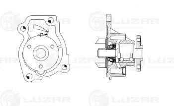 Водяной насос (помпа) для Лада Х Рей, Лада Веста 1.6 16 клапанов, двиг.  Н4М (HR16), Luzar — Веста Шоп
